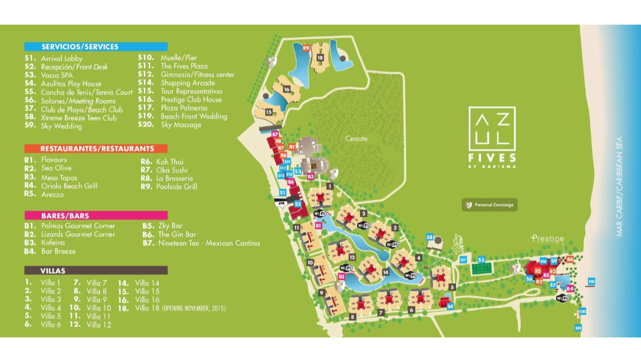 Fives - Resort Map - 01-2016