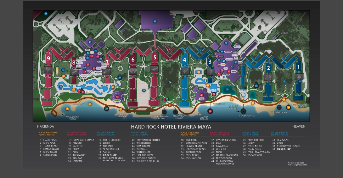 rock riviera resort map images hardrock riviera